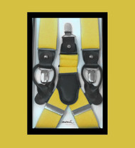 Antonia Convertible Button & Clip Stretch Braces - Suspenders - Yellow