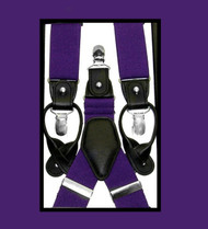 Antonia Convertible Button & Clip Stretch Braces - Suspenders - Purple