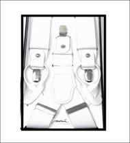 Antonia Convertible Button & Clip Stretch Braces - Suspenders - White