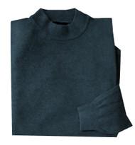Franco Ponti Teal Blue Wool Blend Mock Neck Italian Sweater
