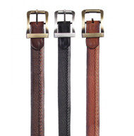 Los Altos Genuine Shark Skin and Braided Leather Dress Belt