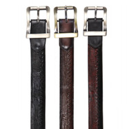 Los Altos Genuine Teju Lizard and Braided Leather Dress Belt