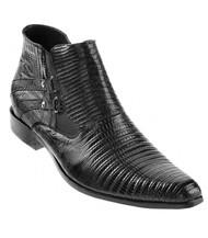 Los Altos Genuine Teju Lizard Ankle Half Boot - Black