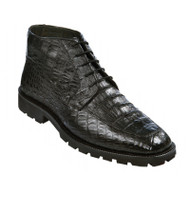 Los Altos Genuine Black Caiman Belly Ankle Boot