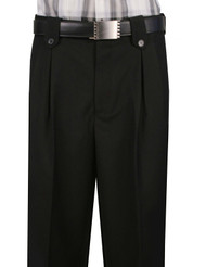 Veronesi 100% Wool Wide-Legged Slacks - Black
