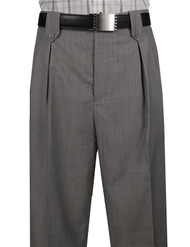 Veronesi 100% Wool Wide-Legged Slacks - Grey Sharkskin