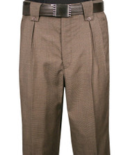 Veronesi 100% Wool Wide-Legged Slacks- Brown Birdseye