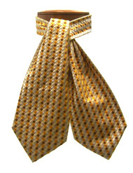 Antonio Ricci 100% Silk Ascot - Small Gold Diamonds