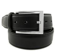 37mm - Bellissimo Pebbled Genuine Full Grain Leather Belt - Black
