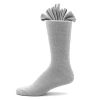 Antonio Ricci Premium Cotton Mid-Calf Dress Socks - Silver Grey