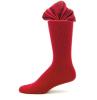 Antonio Ricci Premium Cotton Mid-Calf Dress Socks - Red