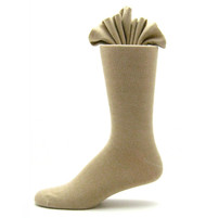 Antonio Ricci Premium Cotton Mid-Calf Dress Socks - Beige