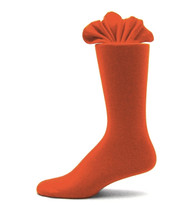 Antonio Ricci Premium Cotton Mid-Calf Dress Socks - Orange