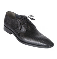 Los Altos Genuine Teju Lizard Dress Shoe - Black