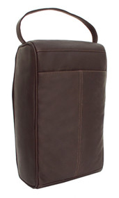 Piel Leather Travel Large Zipper Shoe Bag