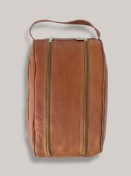 Piel Leather Travel Zipper Shoe Bag