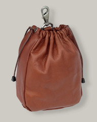 Piel Leather Small Drawstring Accessories Bag
