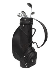 Piel Leather Executive Deluxe 9in Leather Golf Bag