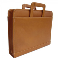 Piel Leather 3 Ring Binder Zip Handle Case
