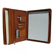 Piel Letter-Size Leather Padfolio with 3-Way Organizer