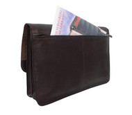 Piel Leather Executive Tri-Section Flap Portfolio