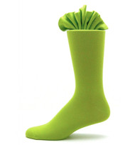 Antonio Ricci Premium Cotton Mid-Calf Dress Socks - Lime