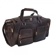 "Piel Large 20"" Travel Duffel Leather Bag"