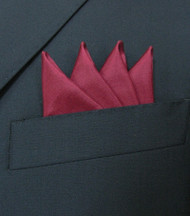 Pre-Folded 100% Silk Pocket Square Insert