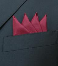 Pre-Folded 100% Silk Pocket Square Insert