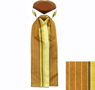 Formal 100% Woven Silk Ascot - Yellow-Gold and Tan Tones