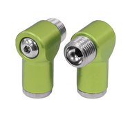 Aluminum Air Fittings Semi-Gloss Green