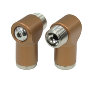Aluminum Air Fittings Semi-Gloss Brown