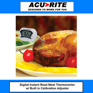 Acu-Rite Digital Instant Read Meat Thermometer NSF certified with pocket  clip sheath