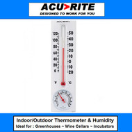 Heavy Duty Indoor/Outdoor Thermometer w/ Humidity Gauge