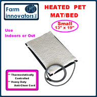 Small Heated Pet / Animal Mat Bed w. FREE Fleece Cover