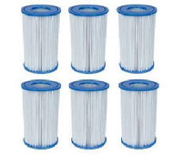 INTEX / BESTWAY / COLEMAN POOL FILTER CARTRIDGE  6 PACK STYLE  A