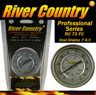 "3"" River Country Dual Range F & C Adjustable BBQ, Grill, Smoker & Pit Thermometer (RC-T3FC)"
