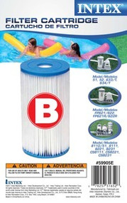 INTEX POOL FILTER CARTRIDGE REPLACEMENT 2 PACK STYLE  B