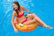 INTEX TRANSPARENT TUBE INFLATABLE FLOATING SWIMMING POOL LAKE FLOAT RAFT