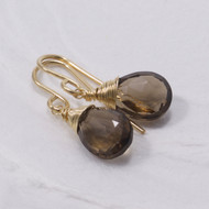 Smoky Quartz Drop Earring 14k Gold Filled