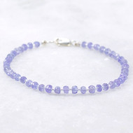 Tanzanite Energy Bracelets Sterling Silver Clasp