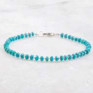Genuine Turquoise Bracelet Sterling Silver