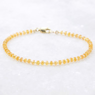 Padparadscha Sapphire Gemstone Bracelet 14k Gold Filled