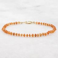 Sunstone Bead Bracelet 14k Gold Filled