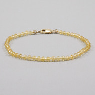 Citrine Bead Bracelet 14k Gold Filled