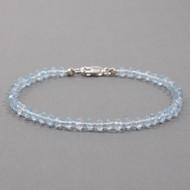 Blue Topaz Bracelet Sterling Silver Clasp