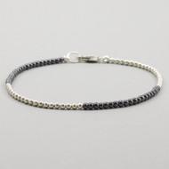 Hematite Sterling Silver Bracelet 2mm