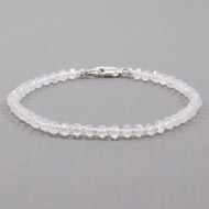 Moonstone Bracelet with Delica Seed Bead Spacers