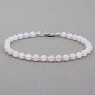 Moonstone Bracelet 4mm Round Beads