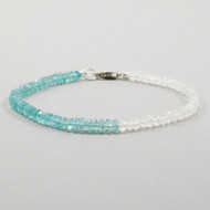 Moonstone Apatite Bracelet Sterling Silver Clasp